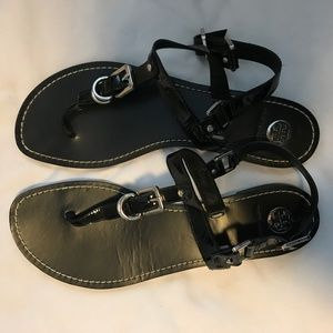 Black Tory Burch Strap Sandals